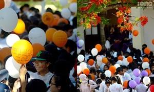 Lễ tri ân rợp bóng bay, hoa phượng đỏ của teen Thái Phiên