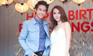 Yến Trang diện 'đồ ngủ' cách điệu tới sinh nhật hot boy Thái