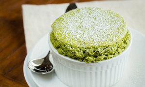 Bánh souffle trà xanh thèm ứa nước miếng