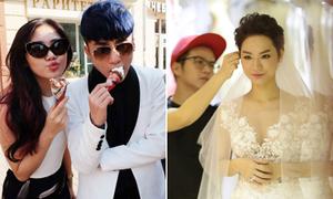 Sơn Tùng nô đùa ở Nga, Trà My Idol thử váy cưới 200 triệu đồng