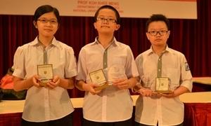 3 học sinh Việt giành HCV Olympic Toán học châu Á