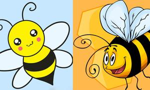 8 cách vẽ con ong ngộ nghĩnh