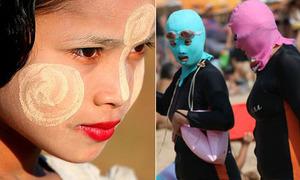 Những cách chống nắng 'nhìn là choáng' của phái đẹp thế giới