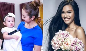 Con gái Jennifer Phạm xinh giống mẹ, Phương Vy gợi cảm bên hoa