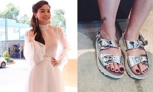 Giày, sandals lóng lánh phủ sóng showbiz Việt