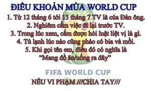 5 điều khoản mùa World Cup của phái mạnh
