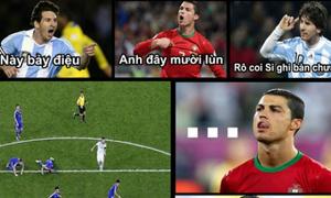 Messi khiêu khích Ronaldo trước đại chiến Bồ Đào Nha - Đức