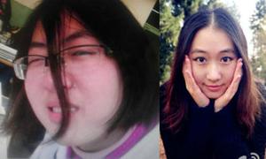 Nữ sinh 'thay da đổi thịt' sau khi vào đại học