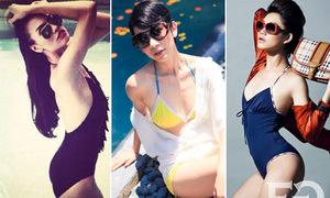 Dàn sao Việt ngực phẳng lì vẫn tự tin diện bikini