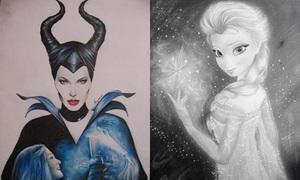 Cậu bạn 9x Việt vẽ Maleficent, Elsa đẹp ngất ngây