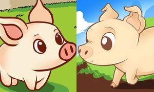8 cách vẽ những chú lợn mũm mĩm