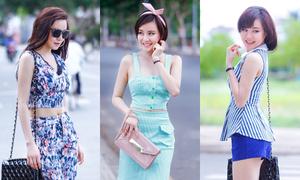 Vy Oanh thử phong cách thiếu nữ ngọt ngào