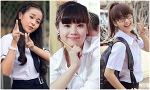 Hot girls Việt khoe nét trong veo với đồng phục xì tin