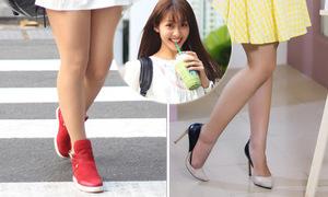Tác dụng 'thần kỳ' của giày cao gót với đôi chân sao Việt