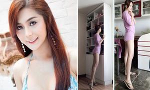 Facebook sao 3/7: Mai Phương Thúy chân siêu dài, Lâm Chi Khanh khác lạ vì photoshop