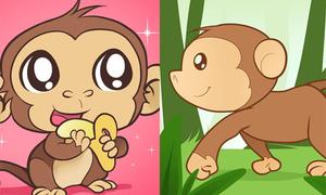 5 cách vẽ khỉ con ngộ nghĩnh