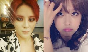 Sao Hàn 31/7: Jun Su mắt thâm như gấu trúc, Soo Young tự sướng siêu kute