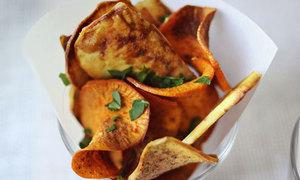Snack khoai lang sấy nhai rau ráu
