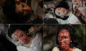 'Scandal 2' hé lộ 50 phút hậu trường tô vẽ xác chết