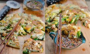 Chiên bánh hành mix hải sản lạ miệng