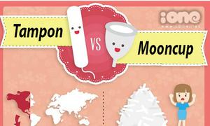 Tampon và mooncup, bạn chọn cái nào?