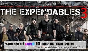 Tặng độc giả 10 cặp vé xem The Expendables 3
