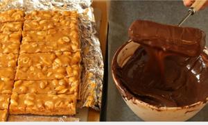 Chết mê món kẹo thanh chocolate siêu ngon