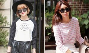 3 kiểu áo phông giá rẻ, tiện dụng nhất ngày thu
