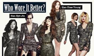 Sao Hàn bất phân thắng bại trong 'cuộc chiến' đụng váy