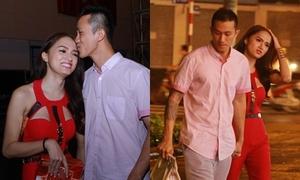 Hương Giang được 'bạn trai tin đồn' ôm hôn, tay trong tay đi ăn mừng