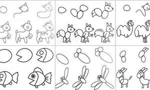 5 bước vẽ các loài động vật siêu đơn giản