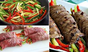 Món ngon cuối tuần: Bò nướng cuốn rau củ tuyệt cú mèo