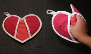 Lót tay xinh xinh hình trái tim tiện dụng