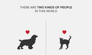 Bộ ảnh thú vị 'Thế giới này có hai loại người'