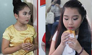 Thiện Nhân 'Voice nhí' ăn vội vàng bánh mỳ trước giờ diễn