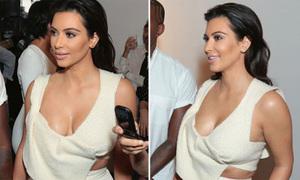 Hot or not: Crop top bằng lông nham nhở của Kim vòng 3