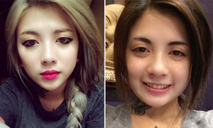 Hot girl hóa 2 người khác nhau vì đổi cách trang điểm