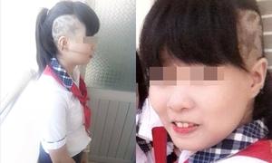 Nữ sinh 10x cạo đầu đến trường gây choáng