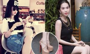 Sao Việt trổ tài đi 'cà kheo' với giày cao cả tấc