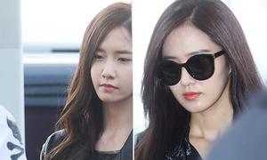 SNSD đeo kính Jessica thiết kế, mặt mày ủ dột tại sân bay