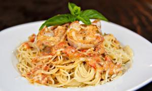 Món ngon cuối tuần: Mỳ spaghetti sốt tôm kem đổi vị