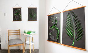 Độc đáo tranh 3D hình chiếc lá đơn giản đến không ngờ