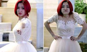Hòa Minzy mặc váy công chúa, tạo dáng siêu anh hùng