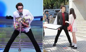 Tư thế tạo dáng hài hước vì chân quá dài của mỹ nam Hàn