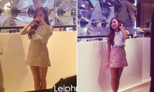 Jessica đích thân thăm cửa hàng riêng tại Thượng Hải