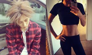 Sao Hàn 17/10: Hara khoe eo 'con kiến', Hyun Seung tóc như bó rơm