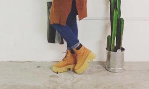 Giày mùa đông biến tấu với mốt đế dày cộp