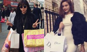 Hot girl khoe thành quả đáng thèm khi đi mua sắm