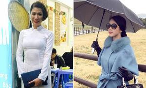 Sao Việt 1/11: Trang Khàn mặc áo dài bán bún, Huyền Baby sang chảnh ở Hàn