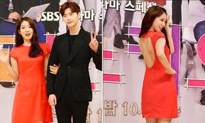 Park Shin Hye khoe lưng trần, đẹp đôi bên Lee Jong Suk